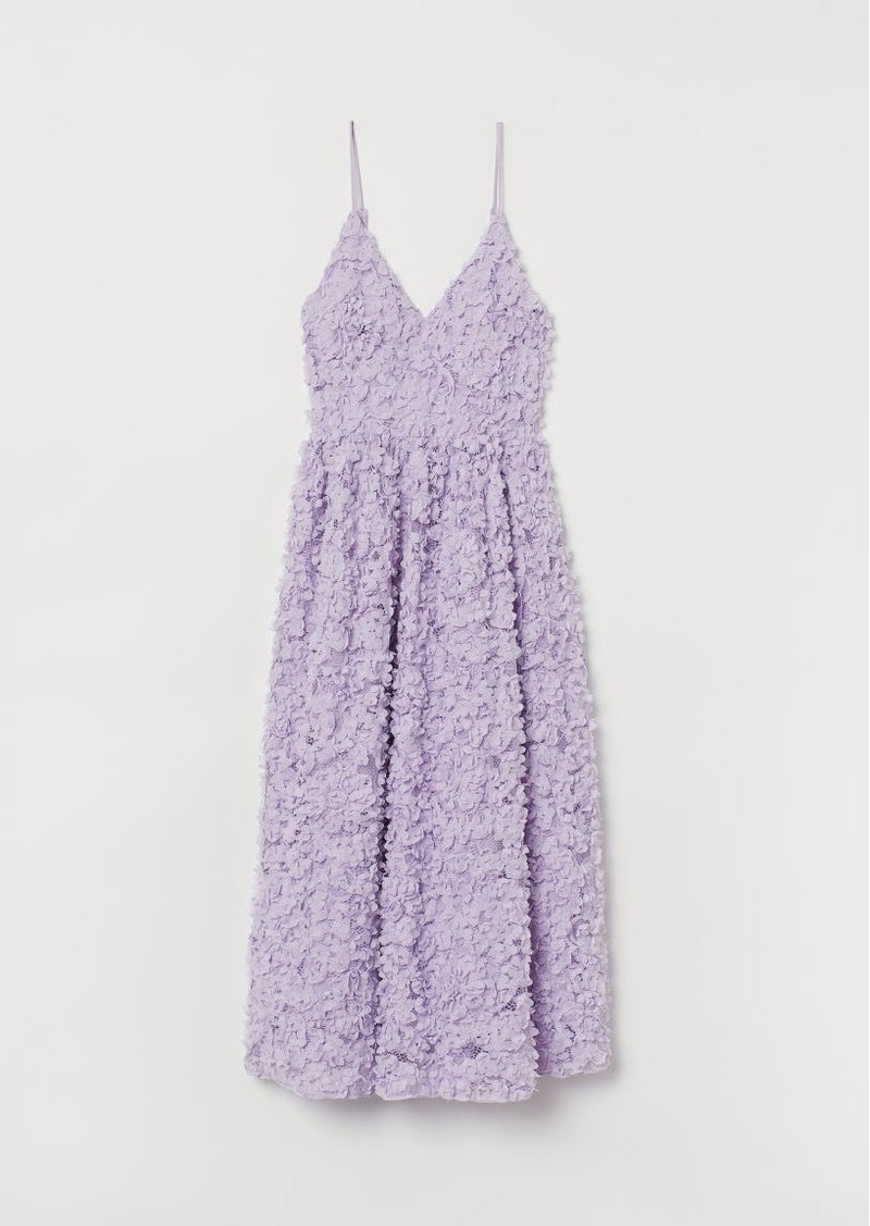 H&M H & M - Dress with Appliqués - Purple