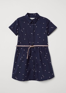 H&M H & M - Dress with Belt - Blue