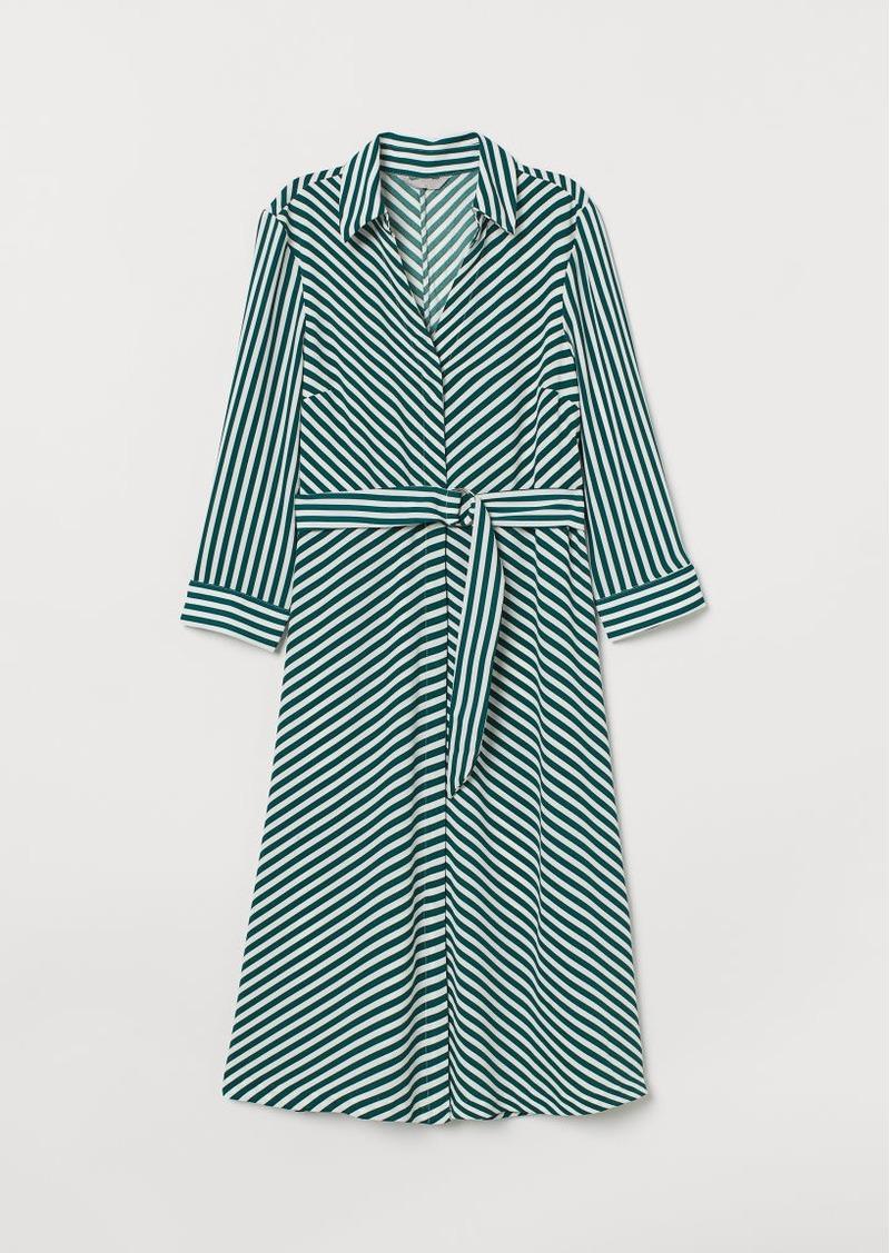 H&M H & M - Dress with Belt - Green