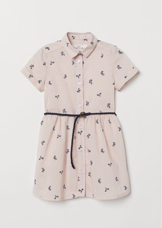 H&M H & M - Dress with Belt - Pink