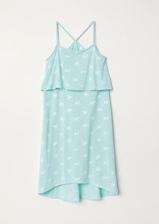 H&M H & M - Dress with Braided Straps - Turquoise
