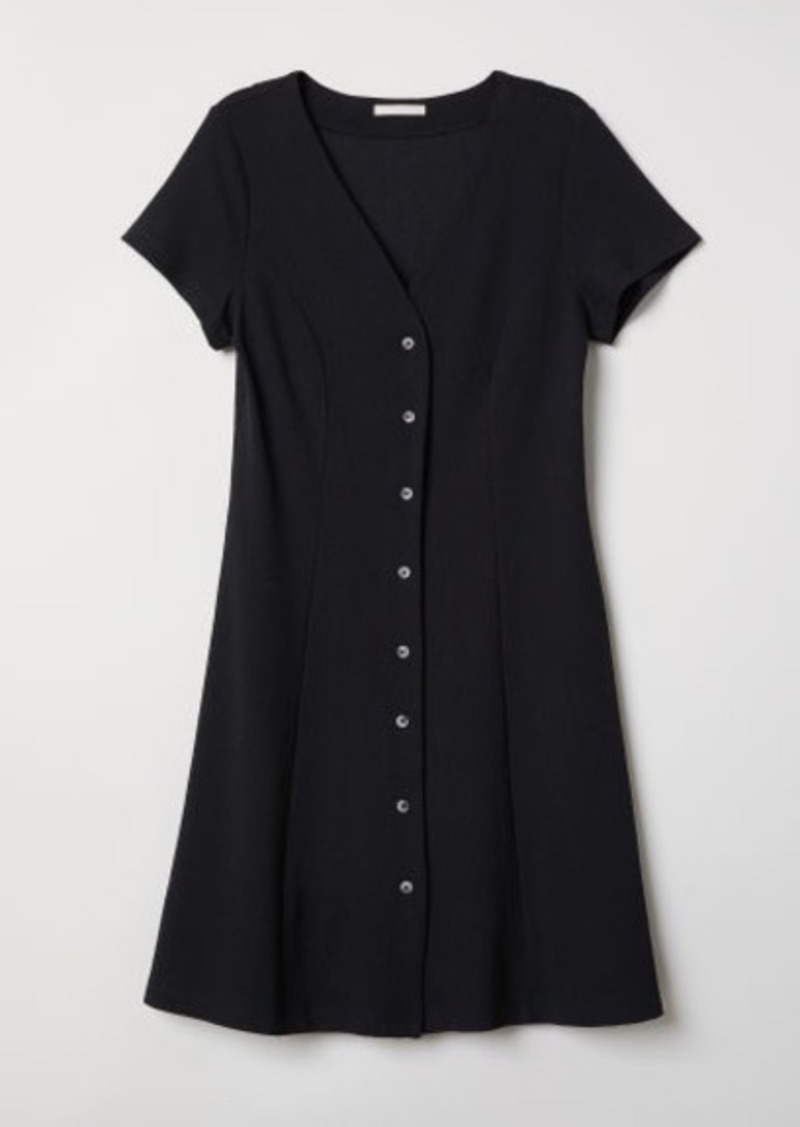 H&M H & M - Dress with Buttons - Black