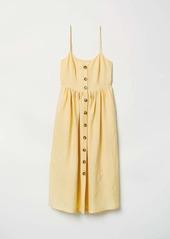 H&M H & M - Dress with Buttons - Light yellow - Women