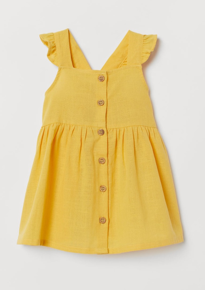 H&M H & M - Dress with Buttons - Yellow