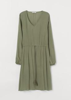 H&M H & M - Dress with Drawstring - Green