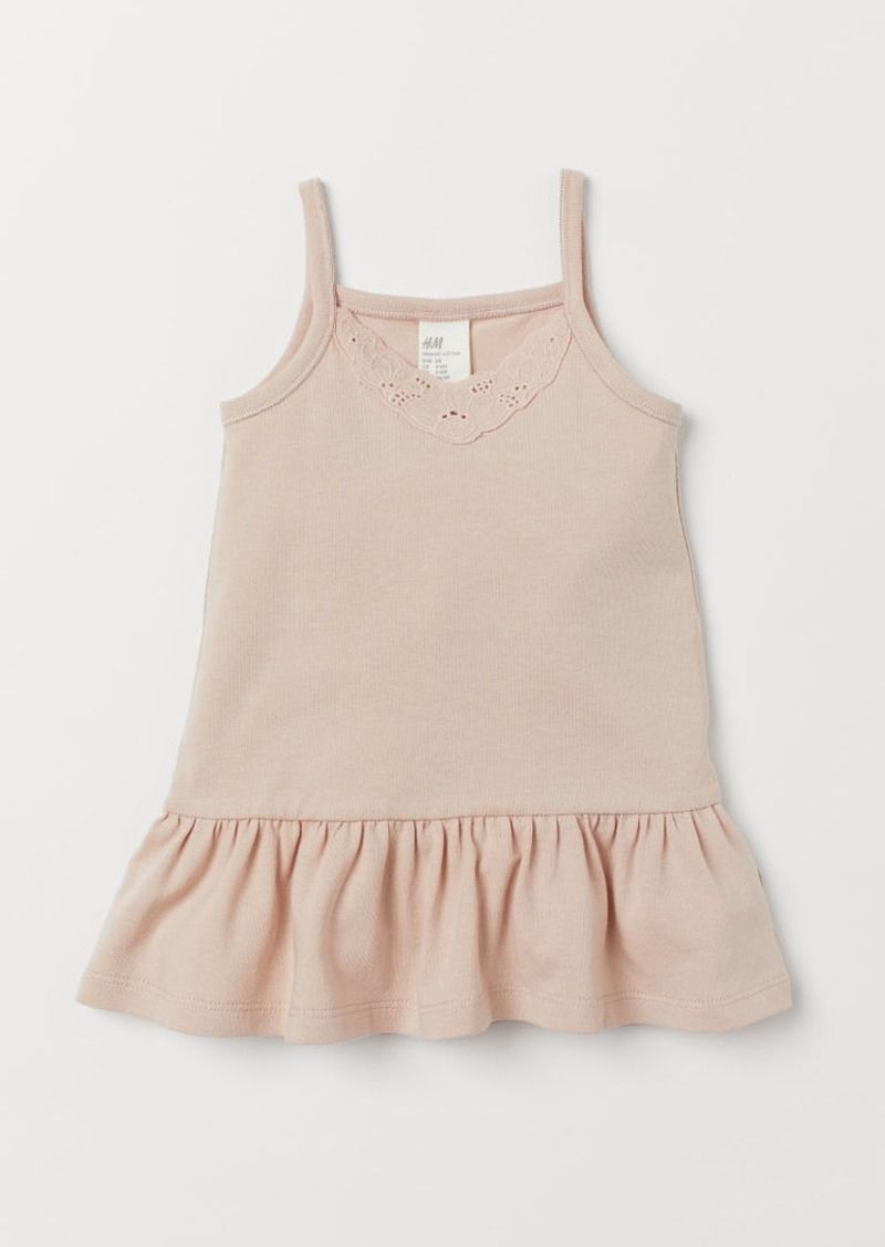 H&M H & M - Dress with Embroidery - Beige