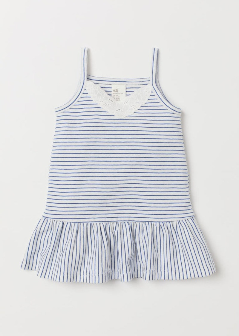 H&M H & M - Dress with Embroidery - White