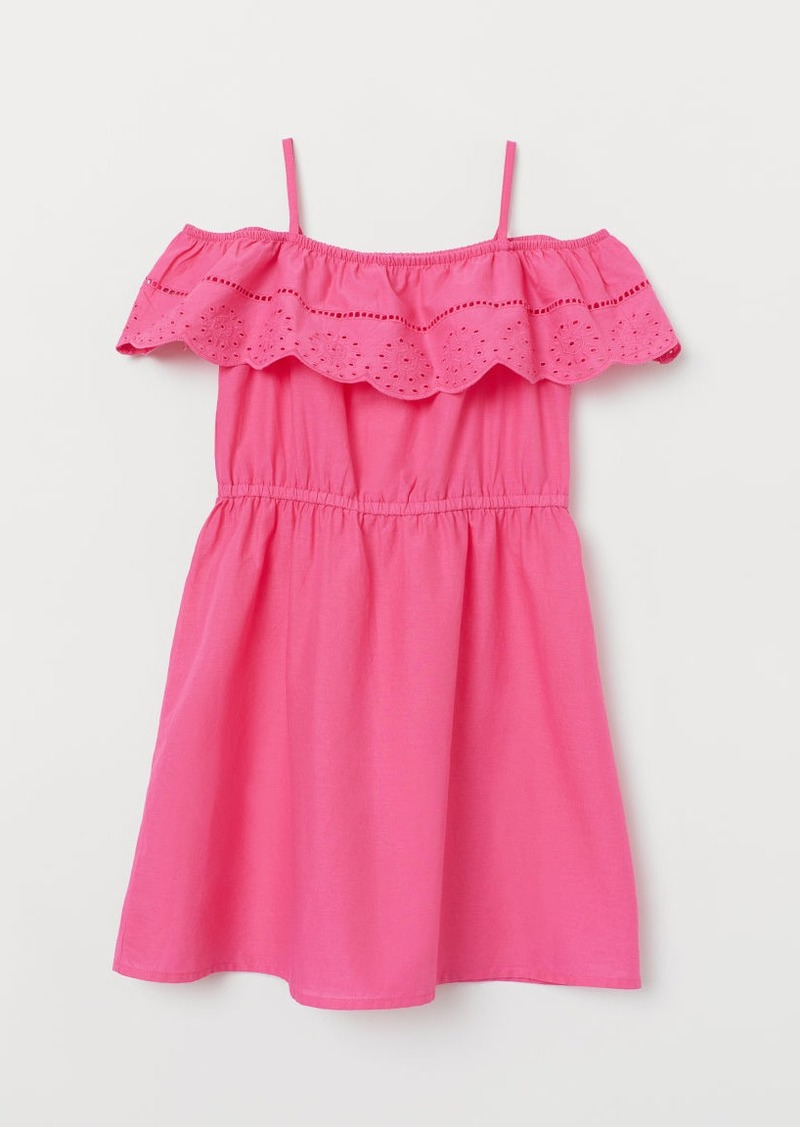 H&M H & M - Dress with Eyelet Embroidery - Pink
