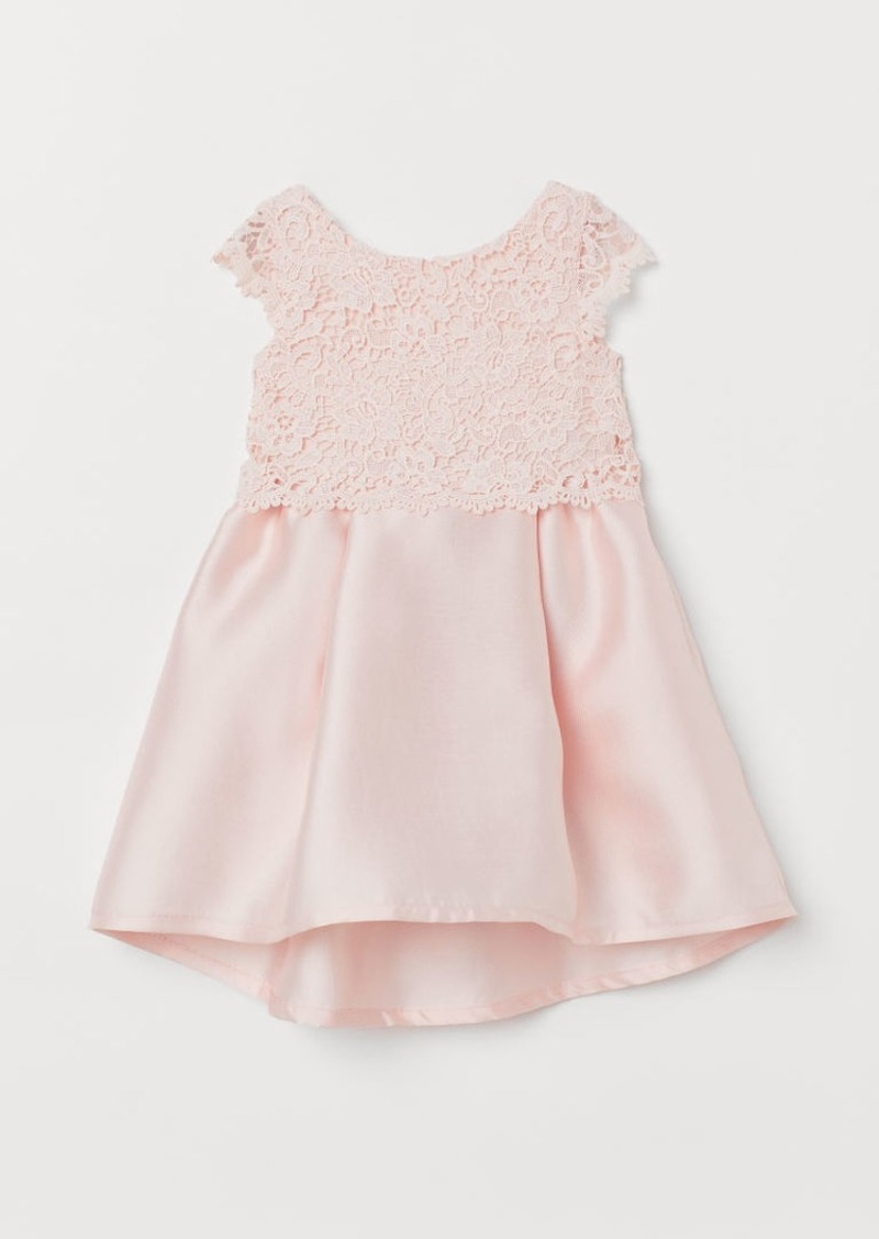 H&M H & M - Dress with Large Bow - Pink