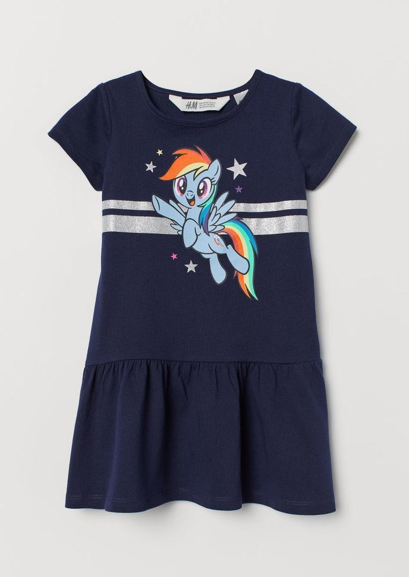 H&M H & M - Dress with Motif - Blue
