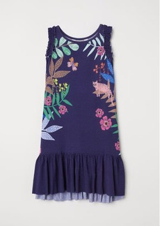 H&M H & M - Dress with Printed Pattern - Blue
