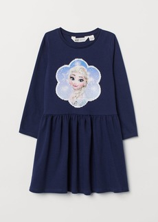 H&M H & M - Dress with Sequins - Blue