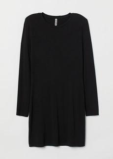 H&M H & M - Dress with Shoulder Pads - Black