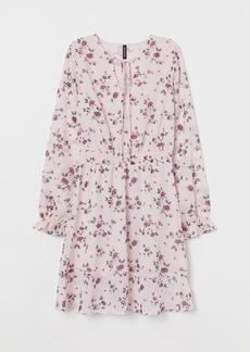 H&M H & M - Dress with Smocking - Pink