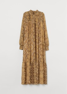 H&M H & M - Dress with Stand-up Collar - Beige