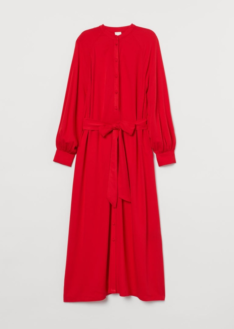 H&M H & M - Dress with Tie Belt - Red