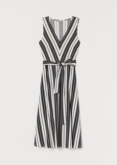 H&M H & M - Dress with Tie Belt - White