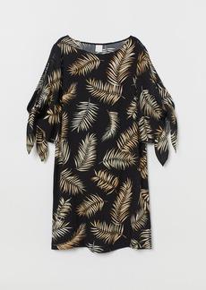 H&M H & M - Dress with Tie Sleeves - Black