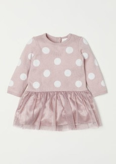 H&M H & M - Dress with Tulle Skirt - Pink