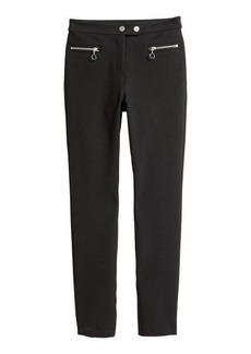 H&M H & M - Dressy Slim-fit Pants - Black
