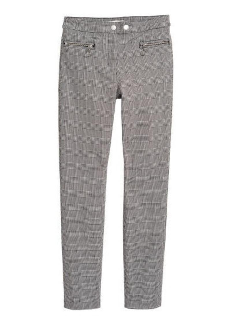 buy good real deal elegant in style H & M - Dressy Slim-fit Pants - Black