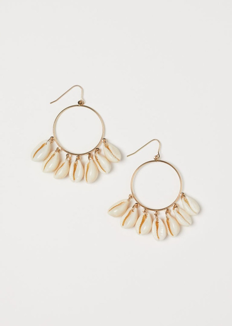 H&M H & M - Earrings with Shells - Gold