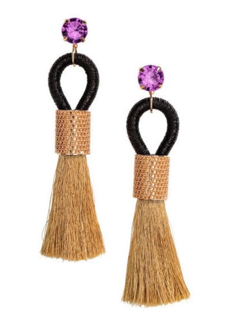 H&M H & M - Tasseled Earrings - Gold