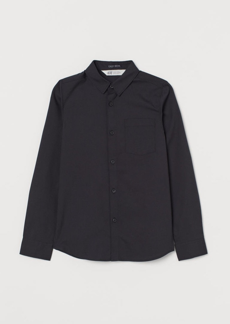 H&M H & M - Easy-iron Shirt - Black