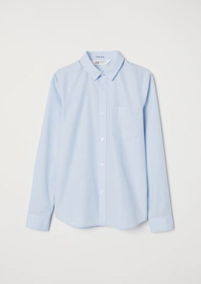 H&M H & M - Easy-iron Shirt - Blue