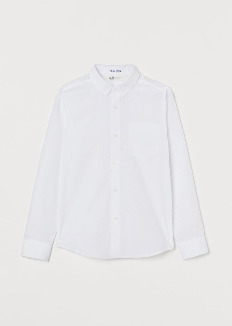 H&M H & M - Easy-iron Shirt - White