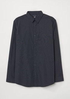 H&M H & M - Easy-iron Shirt Slim fit - Blue