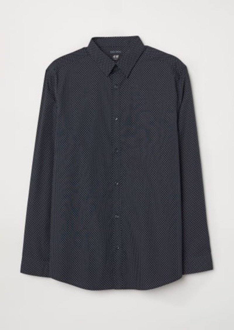 H&M H & M - Easy-iron Shirt Slim fit - Blue