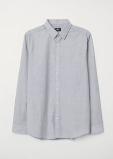 H&M H & M - Easy-iron Shirt Slim fit - Gray