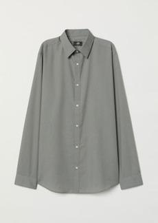 H&M H & M - Easy-iron Shirt Slim fit - Green