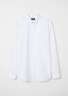 H&M H & M - Easy-iron Shirt Slim fit - White