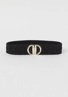 H&M H & M - Elastic Waist Belt - Black