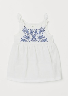 H&M H & M - Embroidered Dress - White