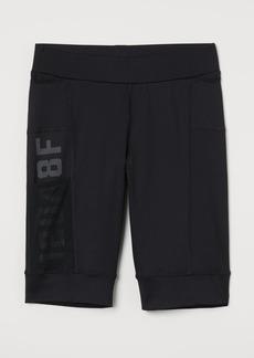 H&M H & M - Fast-drying Running Shorts - Black