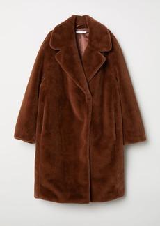 H&M H & M - Faux Fur Coat - Beige