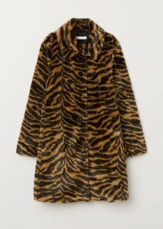 H&M H & M - Faux Fur Coat - Brown