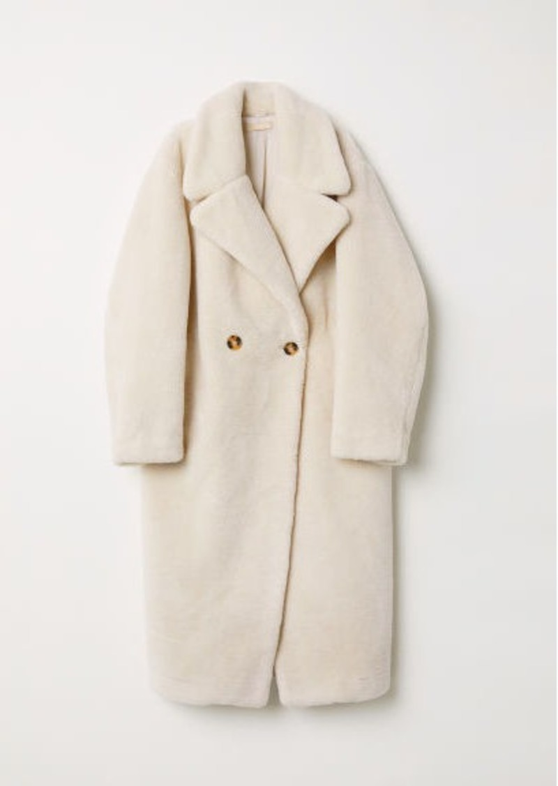 H&M H & M - Faux Fur Coat - White