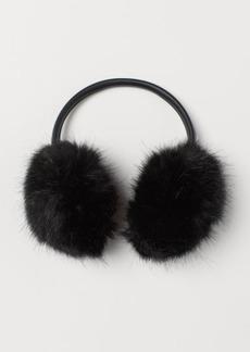 H&M H & M - Faux Fur Earmuffs - Black