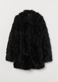 H&M H & M - Faux Fur Jacket - Black