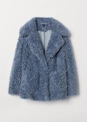 H&M H & M - Faux Fur Jacket - Gray