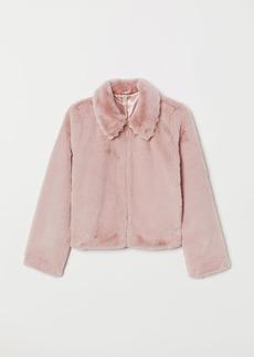 H&M H & M - Faux Fur Jacket - Pink