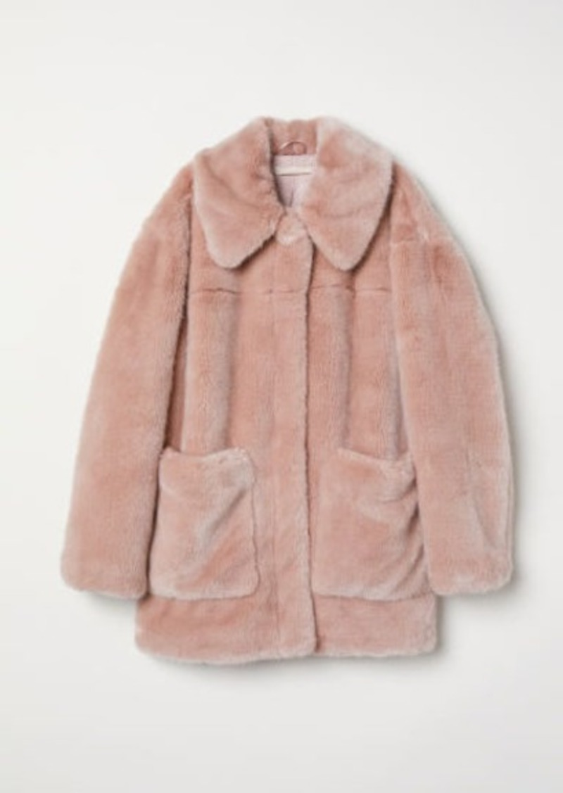 H&M H & M - Faux Fur Jacket - Pink
