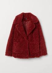 H&M H & M - Faux Fur Jacket - Red