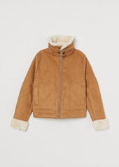 H&M H & M - Faux Fur-lined Jacket - Beige