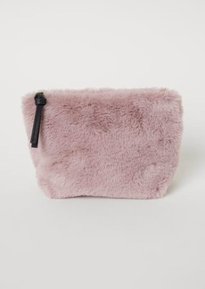 H&M H & M - Faux Fur Makeup Bag - Beige