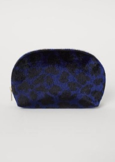 H&M H & M - Faux Fur Makeup Bag - Blue
